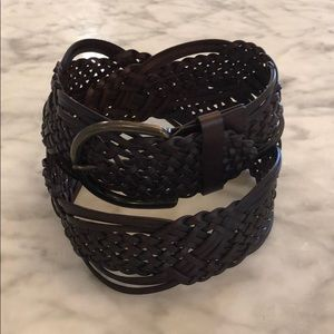 NWOT Target Bonded Leather Braided Belt Sz. M
